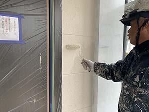 伊勢崎市 外壁上塗り